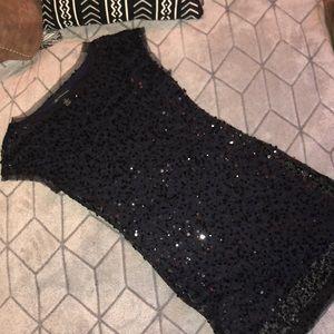 INC black sequin party dress